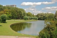 Le 2ème étang et son reflet (Neerpedepark -Brussels)
