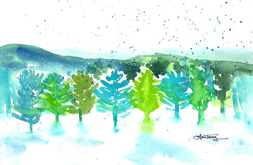Winter Wonderland - Watercolor Painting