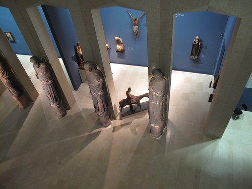 Looking down on Sculpture Hall Augustiner Museum Freiburg Germany