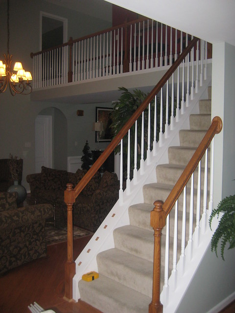 wrought iron baluster installation before and after (4)  Flickr ...