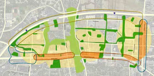suburban revitalization plan takes shape in Dublin, Ohio (courtesy of Goody Clancy Planning)