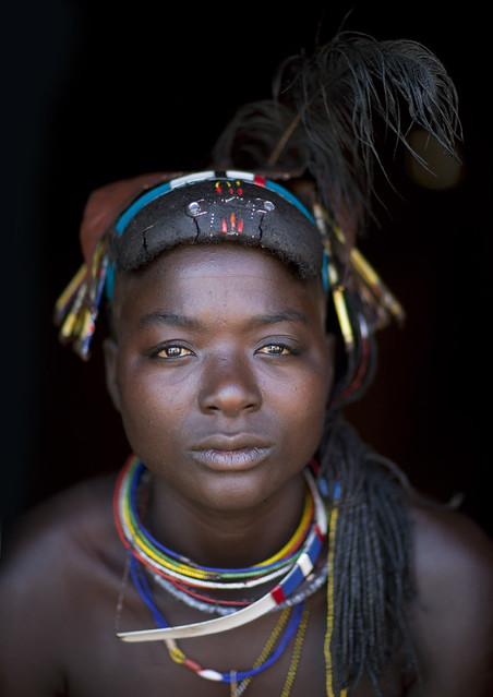Angola Mucawana Tribe Woman