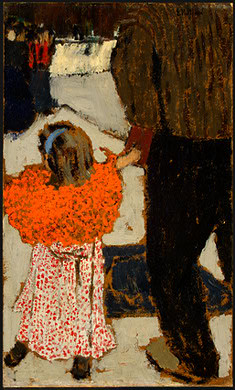 Vuillard, Edouard (1868-1940) - 1891c. Child Wearing a Red Scarf (National Gallery of Art, Washington, DC)