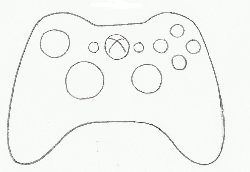 video game controller XBox cookie cutter - a photo on ...