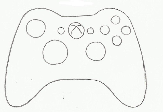 Xbox 360 Controller Drawing video game controller ...