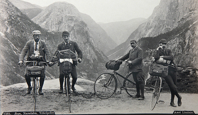 Norwegian mountain bicyclists 1889