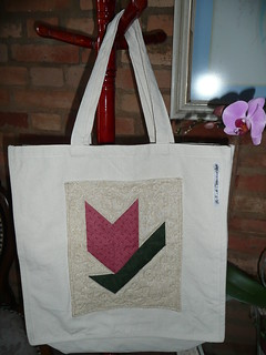 Thimbleberries tulip in a ecobag!