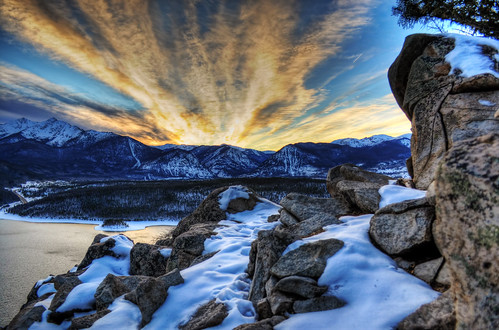 sunset landscape nikon colorado co dillon 5000 hdr topez dillonreservoir