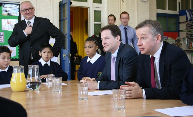 Deputy PM, Nick Clegg and Education Secretary, Michael Gove visit Durand Academy © Educationgovuk