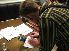 James tallying the votes
