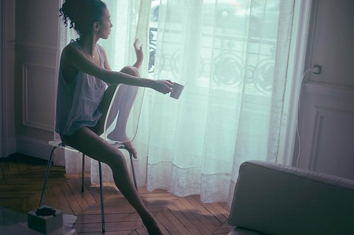 LE LOVE BLOG TRY TO LOVE SOMEONE BUT CANT LOVE PHOTO LOVE IMAGE GIRL AT WINDOW LOOKING OUT WINDOW EUROPEAN APARTMENT ZIG ZAG WOOD FLOORS DRINKING COFFEE Untitled by Theo Gosselin, on Flickr