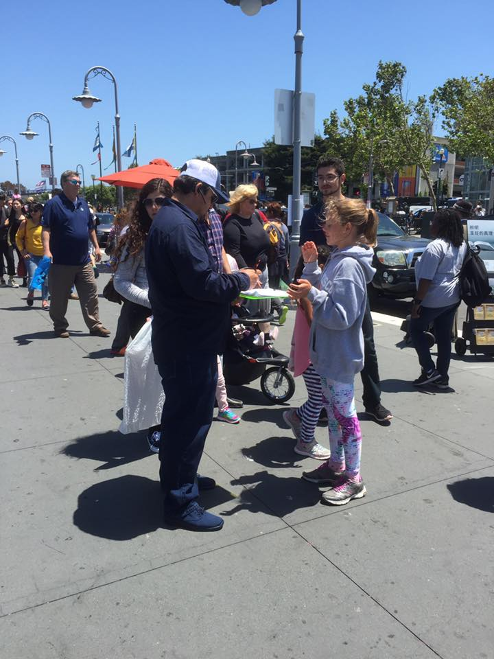 San Francisco, Fisherman's Wharf Leafleting Event – July 1, 2017