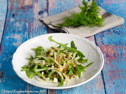 Rocket, fennel and lentil salad-1