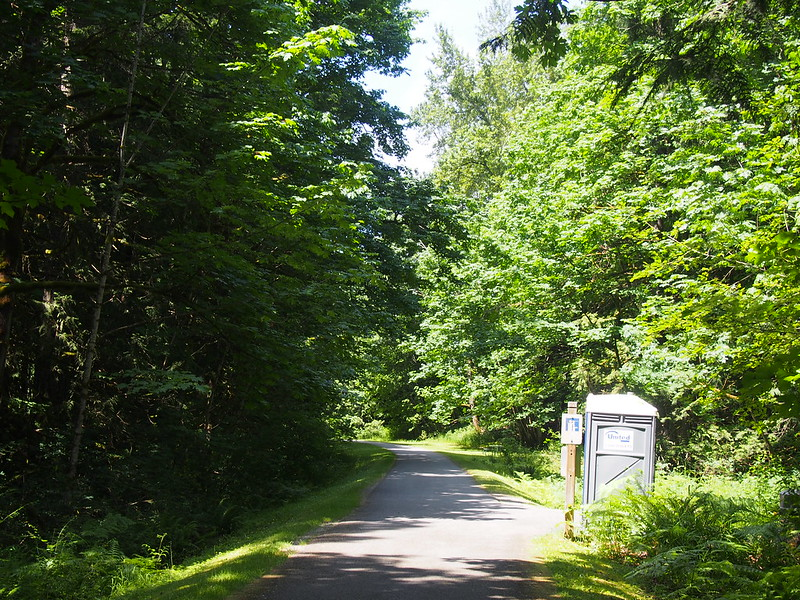 Preston–Snoqualmie Trail: I don't know why, but all of the porta-potties on the trail have been moved to this end of it.  The other trailheads have no public restrooms now.