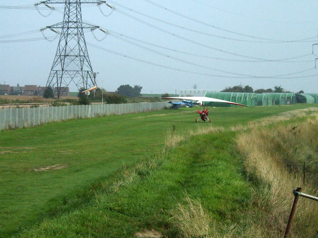 Microlight near Lower Stoke