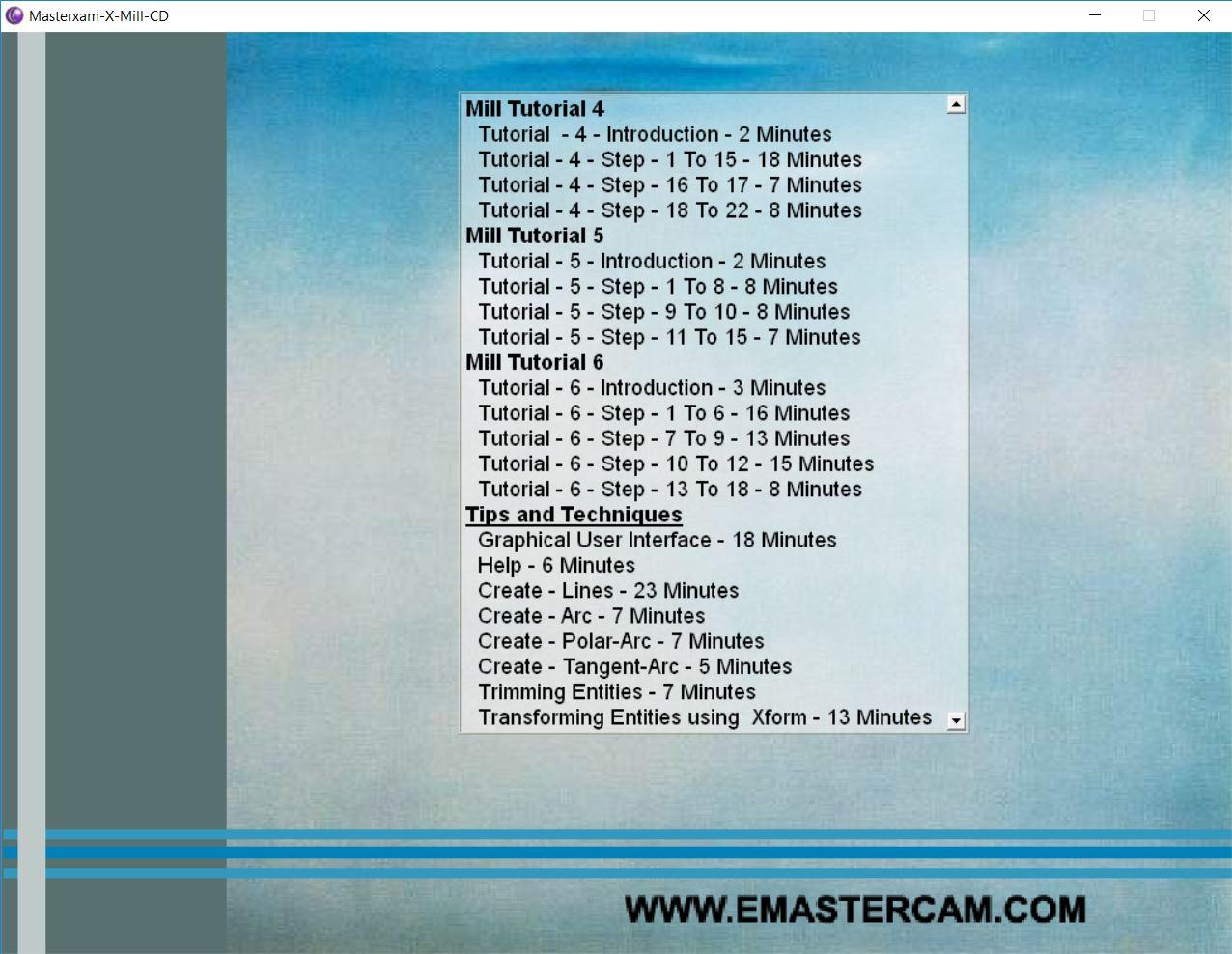 Mastercam X (10) video tutorials