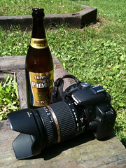 SUNTORY and CANON.