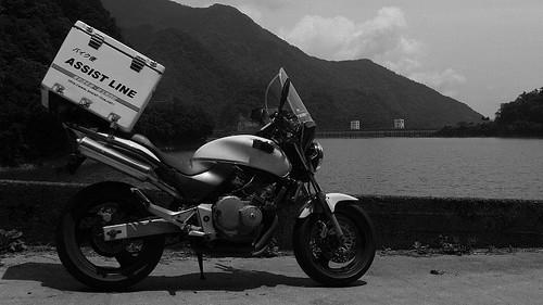 バイク便 奥多摩湖 2010-06