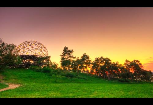 """trees sunset summer orange green yellow canon lights hungary purple lookout sphere naplemente balaton sigma1020 somogy canon50d """"flickraward"""" fények zöld balatonboglár sárga fák narancssárga nyár"""