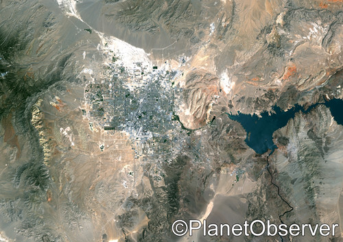 Las Vegas, Nevada, US, 2000 - Satellite image - PlanetObserver