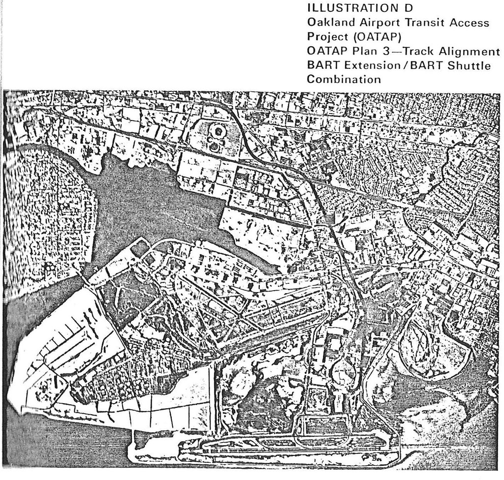 Oakland Airport Transit Access Project: Alternative D (1975)
