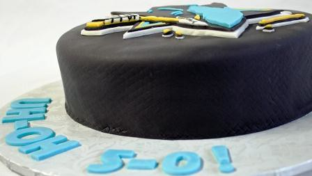San Jose Sharks Hockey Puck Birthday Cake Oh No 5 0 Side