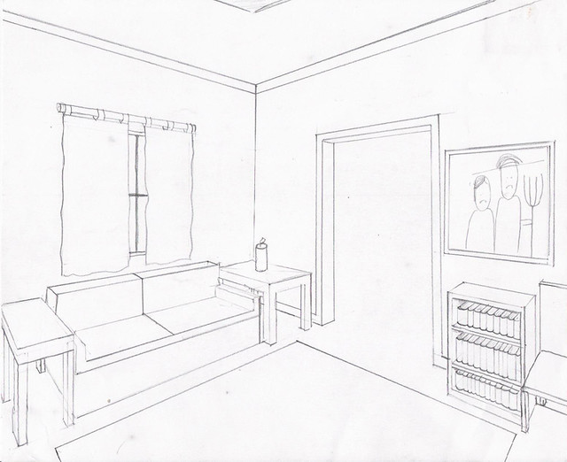 Charming Draw Two Point Perspective 2 Point Perspective Drawing Interior. 2 Point  Perspective Drawing Interior Part 12