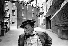 Buster Keaton, MGM backlot, by Lawrence Schiller