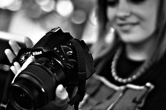 cameras & optics, digital camera, camera, photograph, mirrorless interchangeable-lens camera, digital slr, monochrome photography, close-up, monochrome, black-and-white, black, reflex camera,