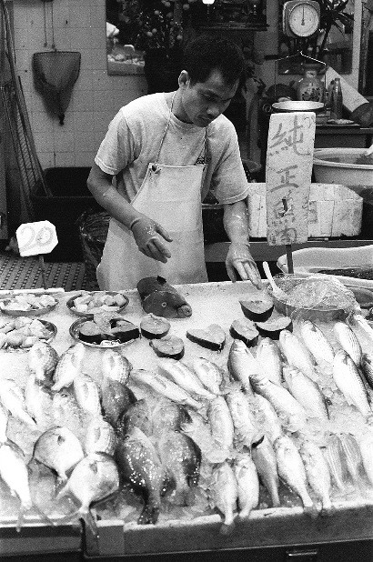 Graham Street Market in Hong Kong  Shop selling fish