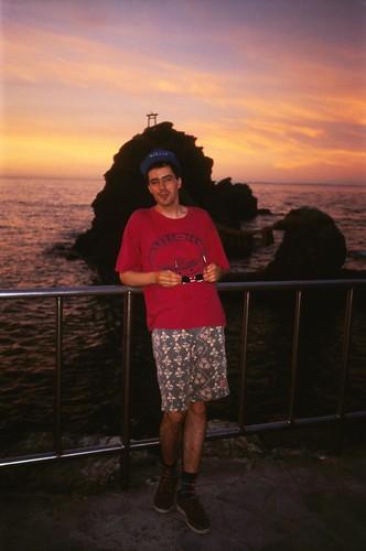 Selbst an den verbundenen Steinen bei Futami-ga-ura, 3.8. 1995