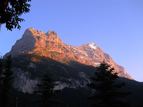 Sunset on the Eiger
