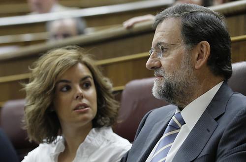 Mariano Rajoy y Soraya Sanez de Santamaría