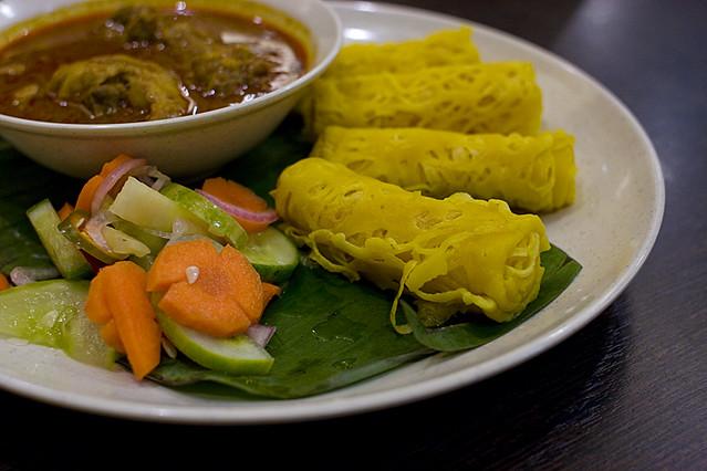 Roti Jala Kari Ayam @ Laksa Shack, Malaysia   Flickr - Photo Sharing!