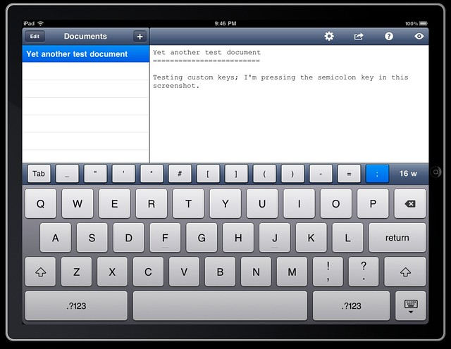 iPad Writing App (as yet without a name)