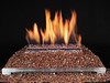 copper fire glass ventless glass gas log fireplace