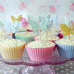 Gluten free Peachy white choc cupcakes