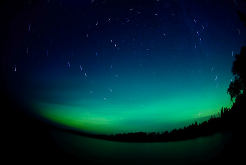 Star Trails and Northern Lights by Bryan Hansel