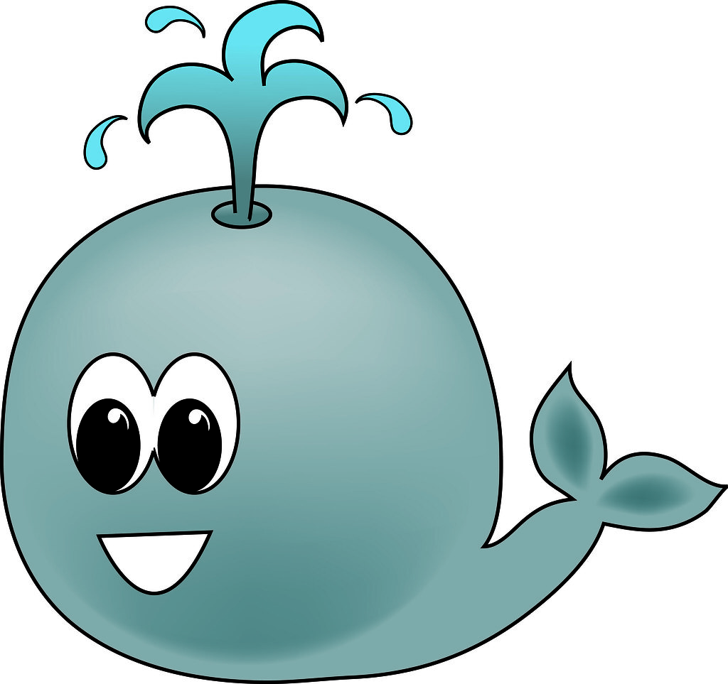 Clip Art Illustration of a Cartoon Whale - a photo on Flickriver