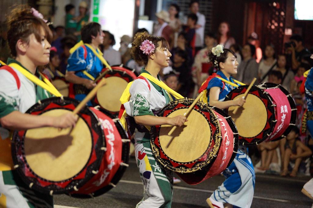 Morioka Sansa Odori Festival - Traditional Drum Parade