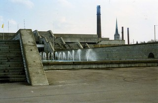 Estonian Brutalism, Linnahall with fountains, Tallinn, May 1996