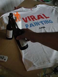 Viral Painting Lazlo and Orange Man Good Luck Cheers