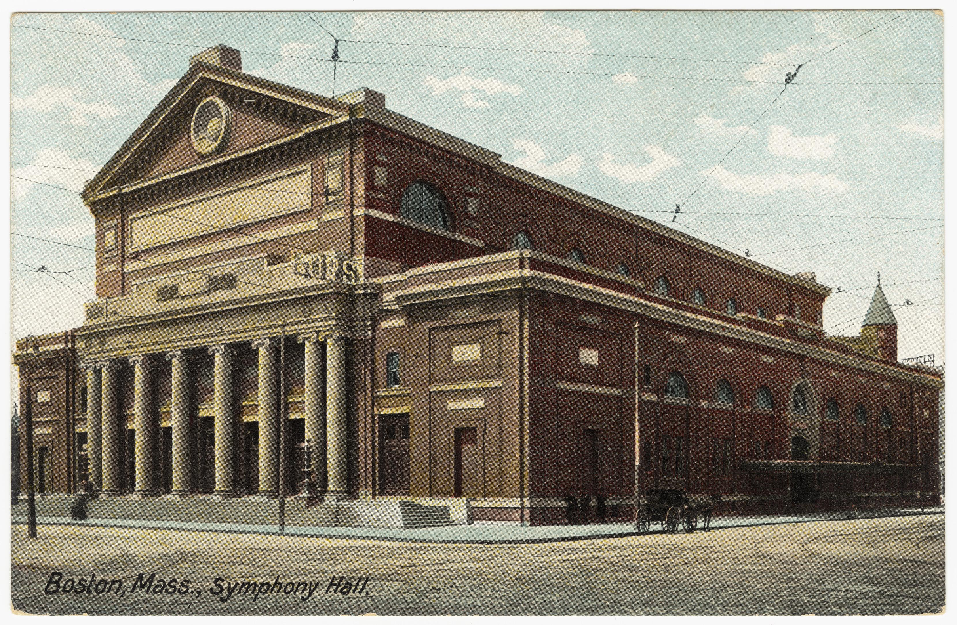 Postcard, Symphony Hall, Boston, Massachusetts