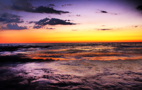 lake waves sunsets huron goderich