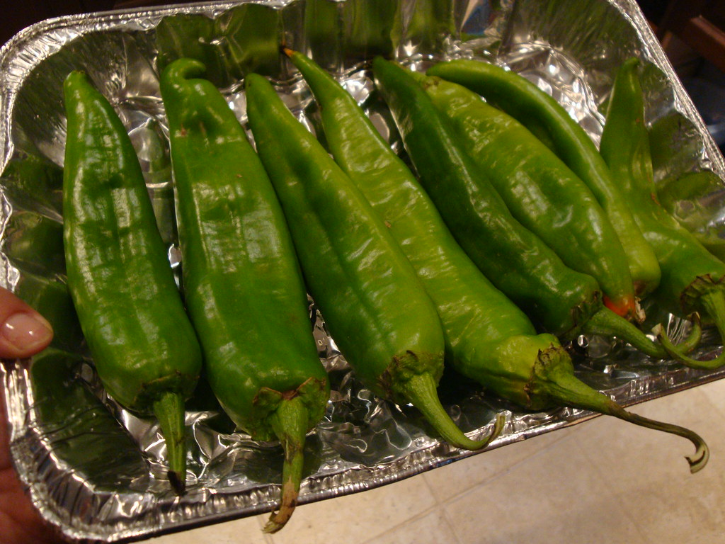 Oven Roasting Hatch Green Chiles