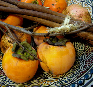 persimmon and cinnamon - cachi e cannella
