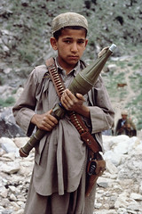 Mujahidin on the Afghan border, Afghanistan, 1984, by Steve McCurry