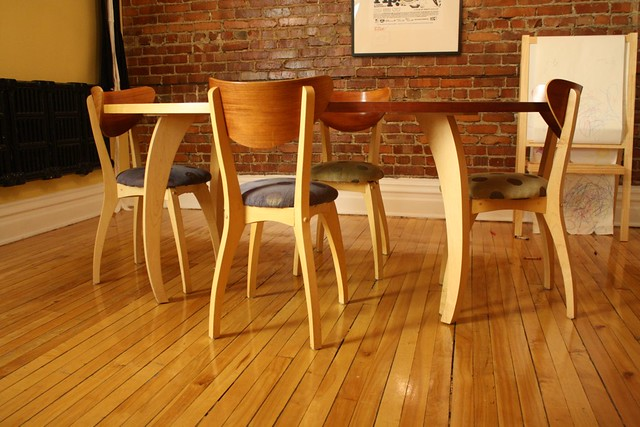 made dining room furniture maple table 4 maple and cherry chairs