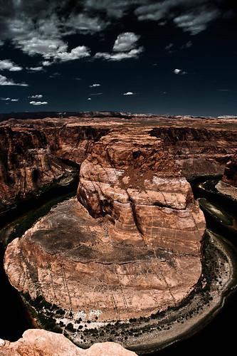 usa west landscape horseshoe