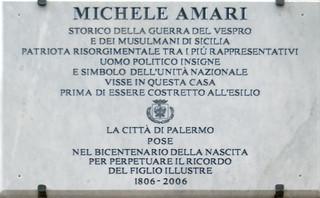 Targa a Michele Amari
